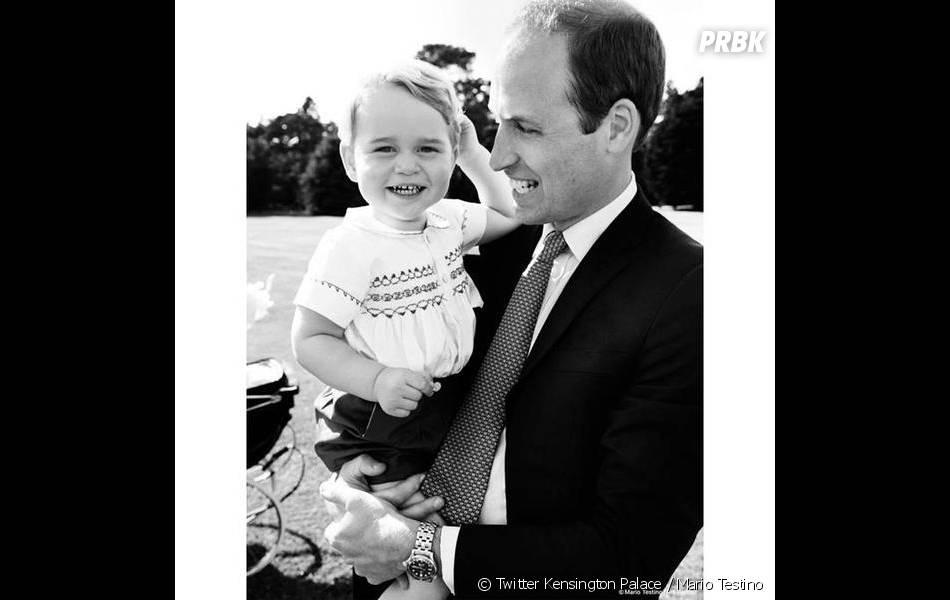 Prince William et Prince George complices au baptême de Charlotte : la belle photo de Mario Testino