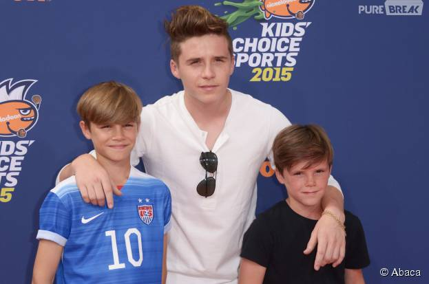Romeo, Brooklyn et Cruz Beckham au Nickelodeon Kids' Choice Sports Awards 2015 à Los Angeles aux USA le jeudi 16 juillet