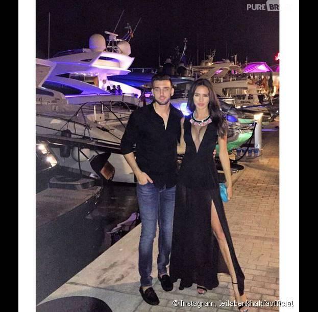 Leila Ben Khalifa sexy au côté d'Aymeric Bonnery, sur Instagram, le 16 juillet 2015