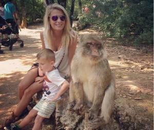 Laura (Qui est la taupe) avec son fils sur Instagram