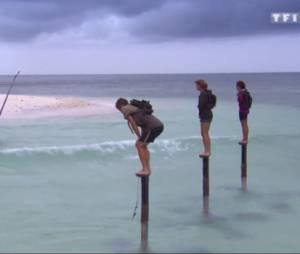 Koh Lanta 2015 : Marc, Chantal et Mélissa à l'épreuve des poteaux lors de la finale, le 24 juillet sur TF1