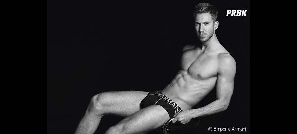 Calvin Harris sexy pour Emporio Armani