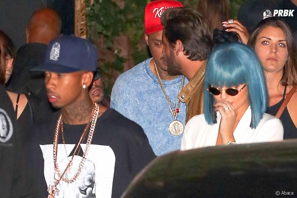 Kylie Jenner et son nouveau style capillaire à Los Angeles le 28 août 2015 avec Tyga