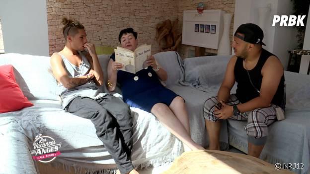 Eddy (Les vacances des Anges All Stars) découvre le livre Le Petit Prince grâce à Livia