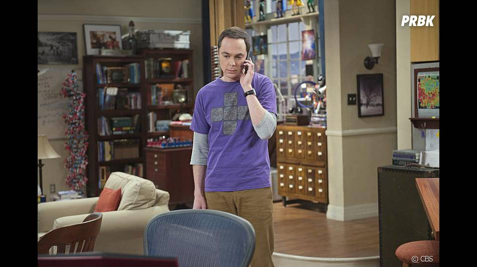 The Big Bang Theory saison 9, épisode 1 : Sheldon (Jim Parsons) sur une photo