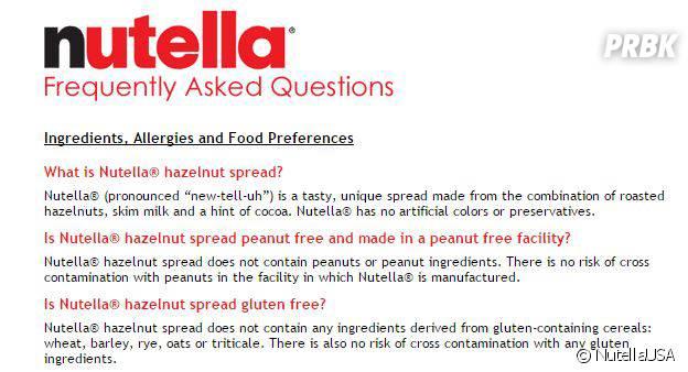Nutella FAQ