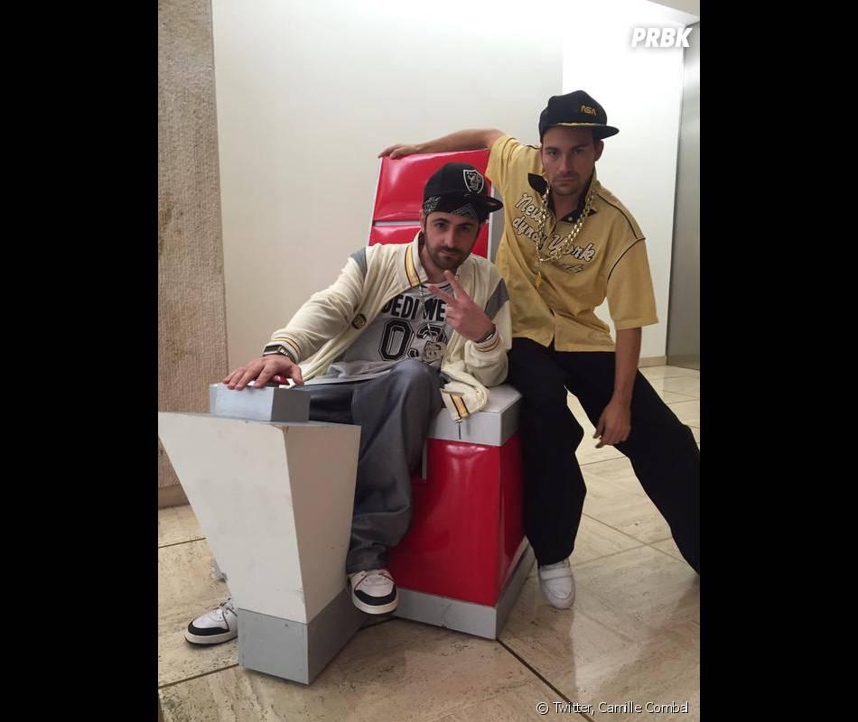 Camille Combal et Bertrand Chameroy transformés en Silky Cam et Tizy B. pour un clip de rap