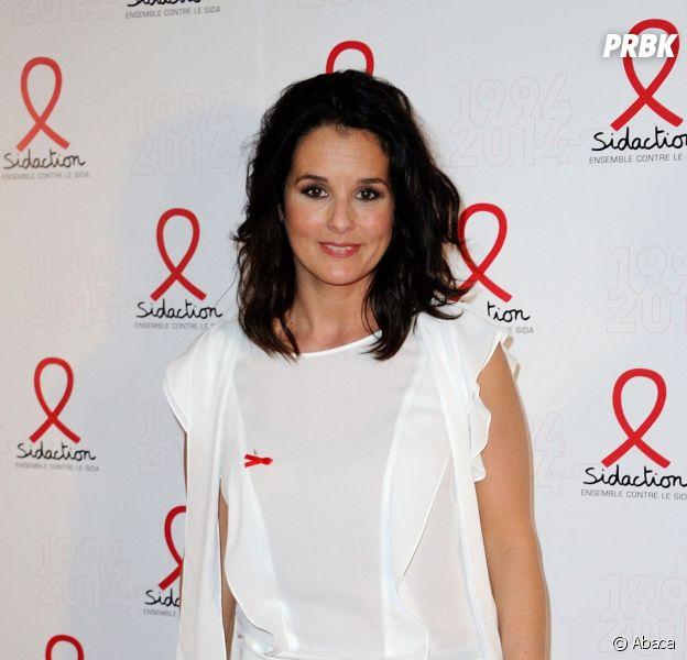 Faustine Bollaert au gala des 20 ans du Sidaction, le 10 mars 2014