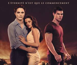Twilight 4 : l'affiche du film avec Robert Pattinson, Kristen Stewart et Taylor Lautner
