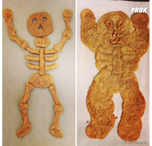 Un squelette en biscuits sans gluten