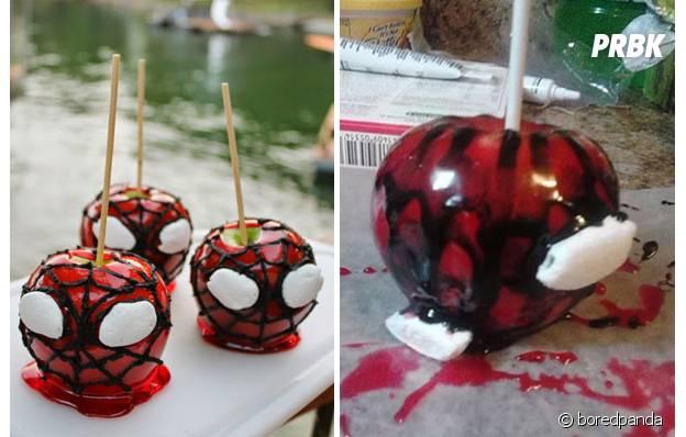 Des spider-pommes ratées