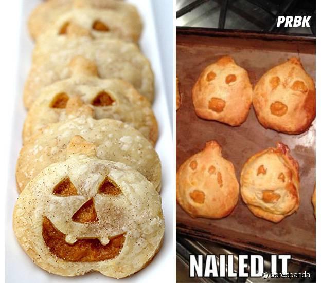 des biscuits d'halloween ratés
