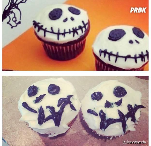 Des cupcakes Monsieur Jack ratés