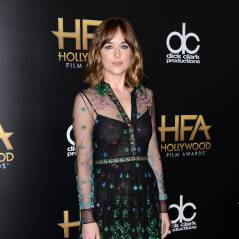 Dakota Johnson sexy sans soutien-gorge : ses tétons stars des Hollywood Film Awards 2015