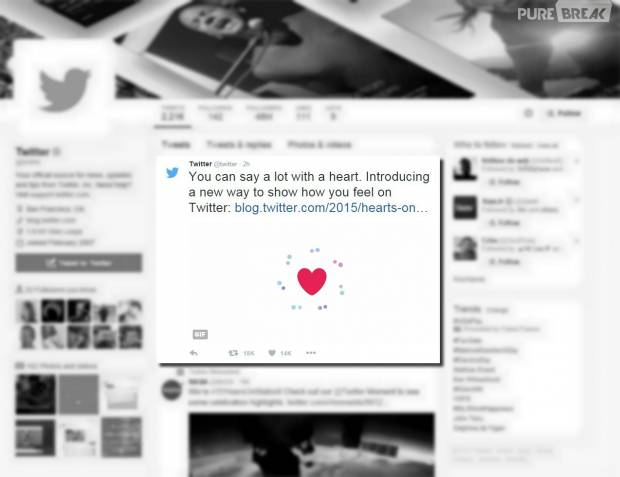 Twitter enlève les Fav et ajoute des coeurs