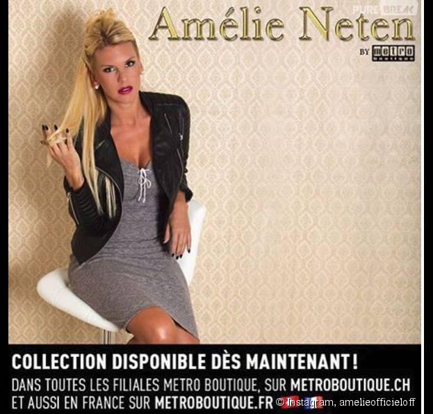 Amélie Neten a dévoilé sa collection de vêtements le 1er décembre 2015