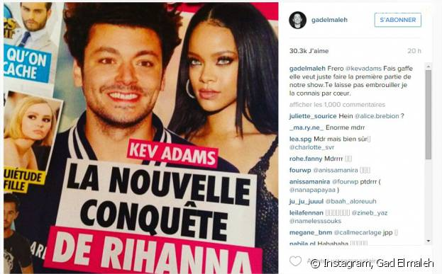 Kev Adams en couple avec Rihana ? Gad Elmaleh se marre, il lui répond