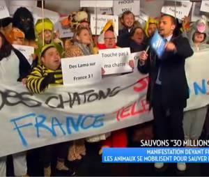 Bertrand Chameroy manifeste pour le maintien de 30 Millions d'amis sur France 3