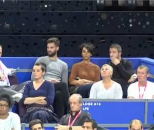Shy'm et Benoît Paire en couple dans les tribunes de l'Open Sud le 3 février 2016 à Montpellier