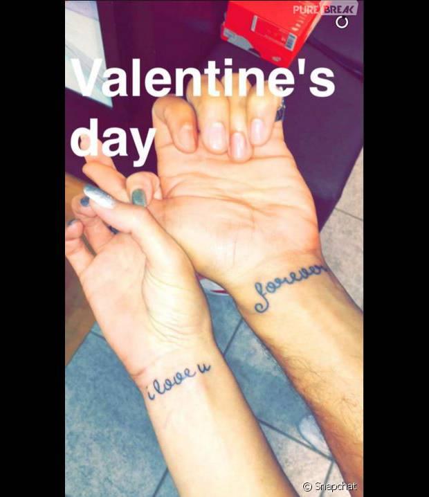 Nadège Lacroix et Nicolas (Friends Trip 2)  le couple s\u0027offre un tatouage  en commun