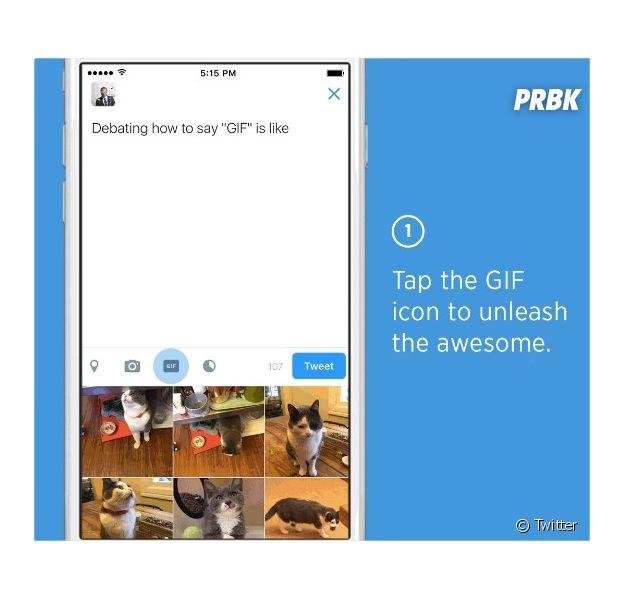 Twitter : les GIFs gagnent du terrain avec un moteur de recherche intégré