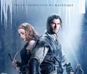 Le Chasseur et la reine des glaces : Chris Hemsworth et Jessica Chastain sur une affiche du film