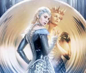 Le Chasseur et la reine des glaces : Emily Blunt et Charlize Theron sur une affiche du film