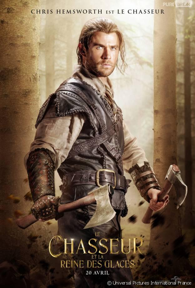 Le Chasseur et la reine des glaces : Chris Hemsworth sur une affiche du film
