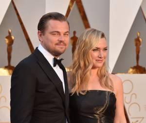 Leonardo DiCaprio et Kate Winslet se retrouvent sur le tapis rouge des Oscars le 28 février 2016