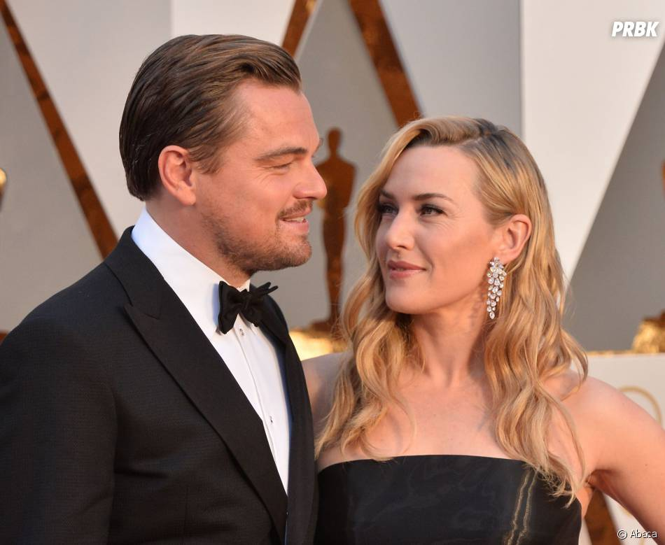 Leonardo DiCaprio et Kate Winslet réunis sur le tapis rouge des Oscars le 28 février 2016