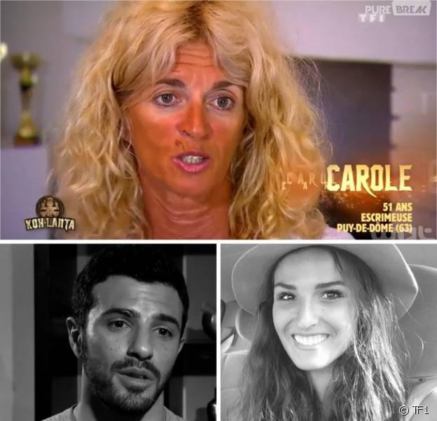 Carole éliminée de Koh Lanta 2016, critique Romain et Cassandre