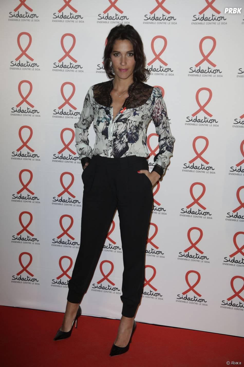 Laurie Cholewa à la soirée du Sidaction 2016 le 7 mars 2016