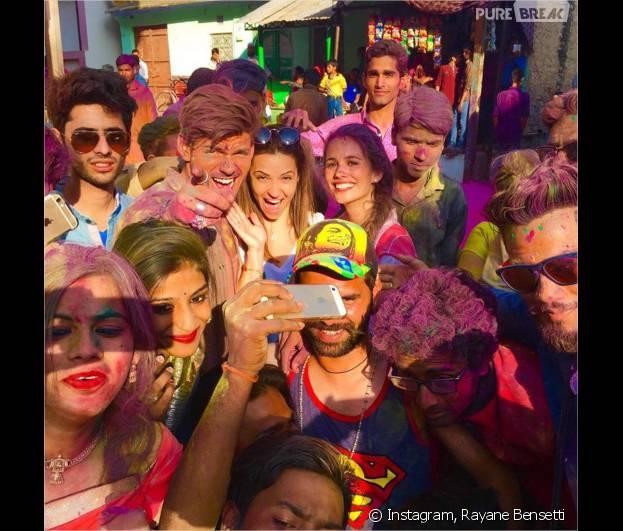 Rayane Bensetti, Denitsa Ikonomova et Lucie Lucas complices en Inde pour le tournage de Coup de foudre à Jaipur en mars 2016