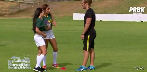 Rawell et Kim draguent le rugbyman Kok Werner devant Kevin et les Marseillais.