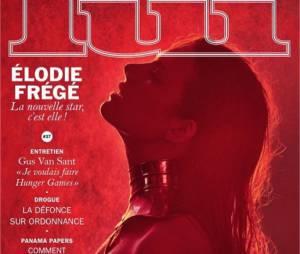 Elodie Frégé (Nouvelle Star 2016) topless en Une de Lui