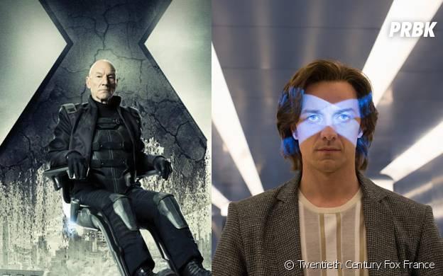 X-Men Apocalypse : Charles Xavier avant/après
