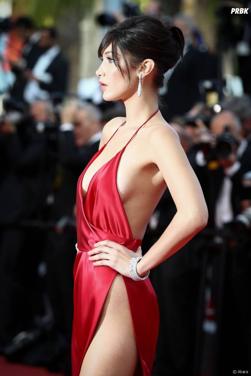 Bella Hadid torride sur le tapis rouge du Festival de Cannes le 18 mai 2016
