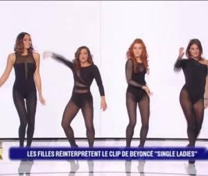Priscilla Betti, Valérie Bègue, Anaïs Delva et Eve Angeli rejouent le clip Single Ladies de Beyoncé dans Battle Zik le mardi 24 mai 2016