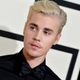 Justin Bieber sur le tapis rouge des Grammy Awards en février 2016.