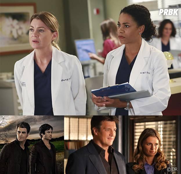 Grey's Anatomy, Castle, The Vampire Diaries... les séries ...