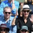 Cristina C  ordula et son mari au match de Jo-Wilfried Tsonga à Roland Garros !