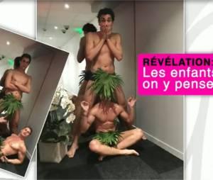 Benoit Dubois et Martial dénudés dans Le Mad Mag pour se moquer d'Aurélie Preston et Andréane le 31 mai 2016