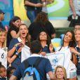 Fiona Cabaye (à gauche) encourageait Yohan Cabaye et l'équipe de France au Mondial 2014 au Brésil
