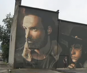 Une fresque géante The Walking Dead dans le Kentucky