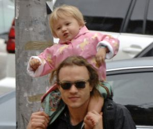 Heath Ledger et sa fille Matilda en 2007