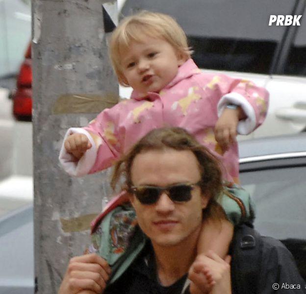 Heath Ledger et sa fille Matilda en 2007