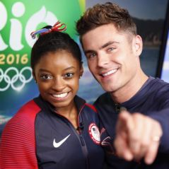 Zac Efron embrasse Simon Biles : le petit ami de la championne olympique réagit avec humour