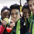 Simon Biles en couple avec un gymnaste brésilien
