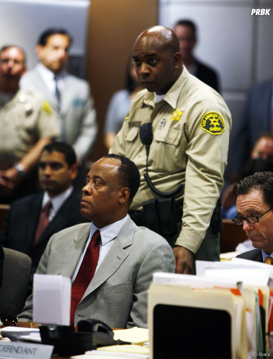 Conrad Murray lors de son procès en février 2010 après la mort de Michael Jackson