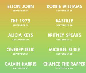 Calvin Harris, Britney Spears...découvrez la programmation du Apple Music Festival 2016